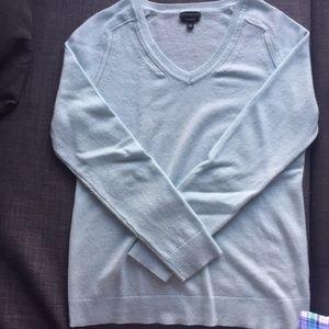 Talbots light blue cashmere sweater
